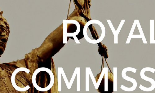 Royal Commission IMAGE of woman holding scales (of justice)