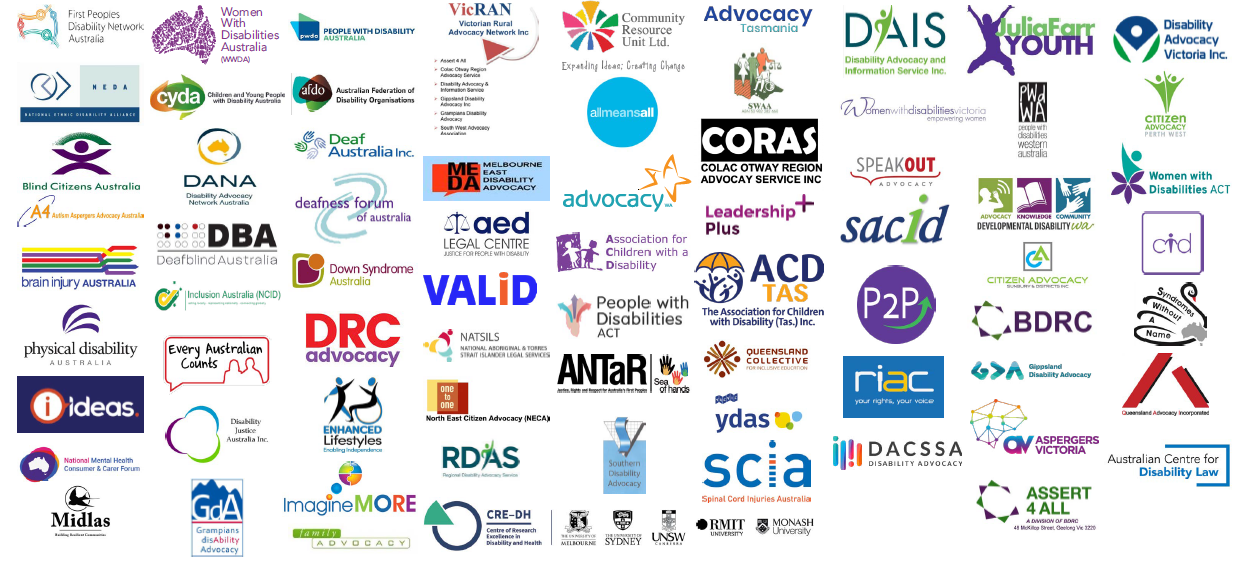Logos of all organisations - see below list