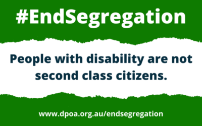 #EndSegregation - People with disability are not second class citizens.