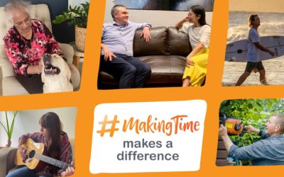 People spending time with nature, animals, music and others #MakingTime makes a difference