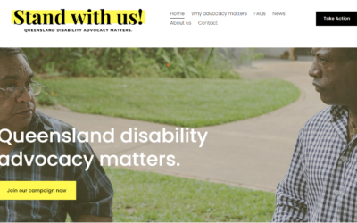 image of Stand with us! website
