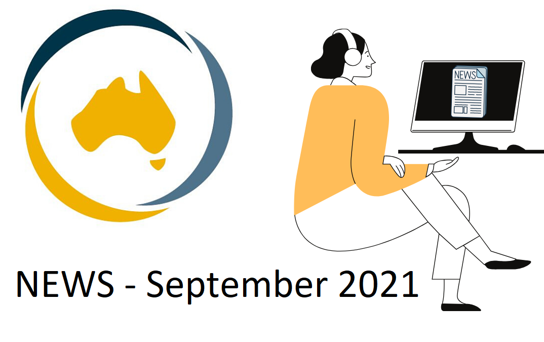 DANA logo - image of person reading eNews on a computer and the words: NEWS - September 2021